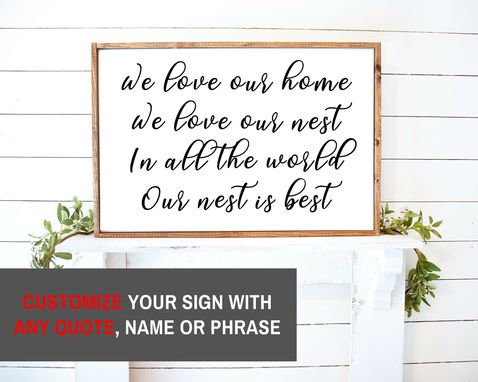 Custom Made Rustic Decor Wood Sign, Farmhouse Sign Custom Personalized 20x30 Inch