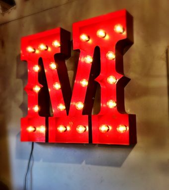 Custom Made M Marquee Lighted Letter