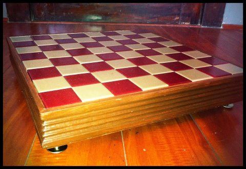 Custom Made Usc Themed Chess Board