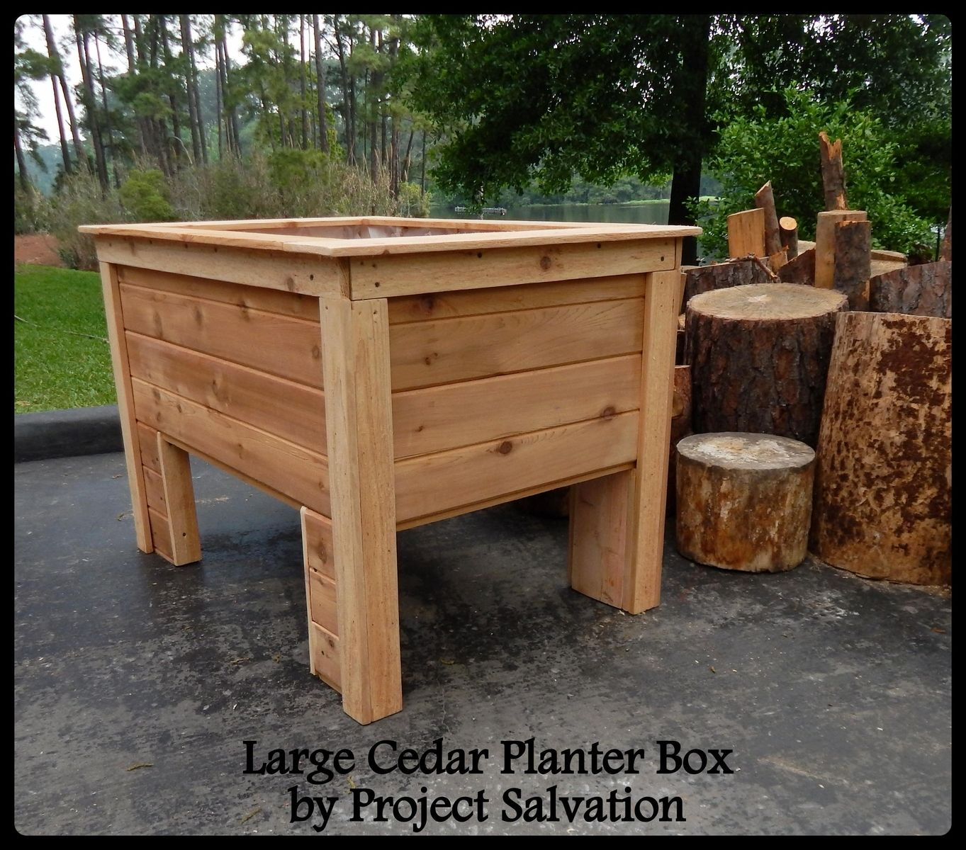 mounted cedar board fence boxes box plans hanging wall lscape planter