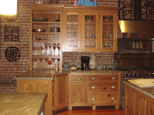 Custom Made Custom Heart Pine Kitchen
