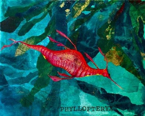 Custom Made Weedy Sea Dragon Canvas Art Print - 16x20