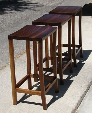 Custom Made Walnut Barstools