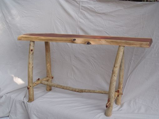 Custom Made Rustic Cedar Hall Table