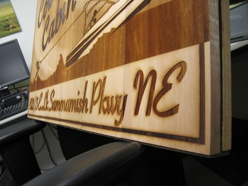 Custom Made Vintage Wood & Metal Sign