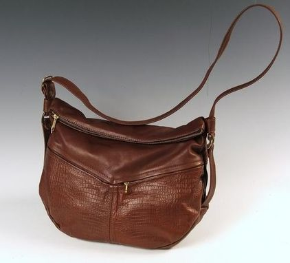 Custom Made Jessica Large Brown Leather Handbag