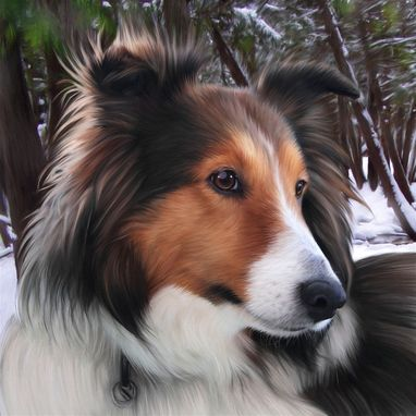 Custom Made Custom Realistic Pet Portrait On Paper Or Canvas