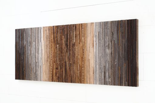 Custom Made Ombre Reclaimed Wood Artwork,