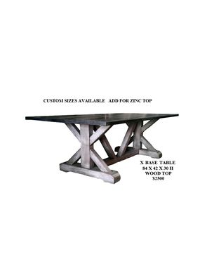 Custom Made X-Base Dining Table