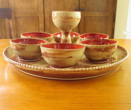 Custom Made A Sedar Meal Platter With Bowls