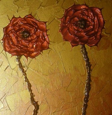 Custom Made Print With Matte Of Gold Rose Painting Sale 22% Off