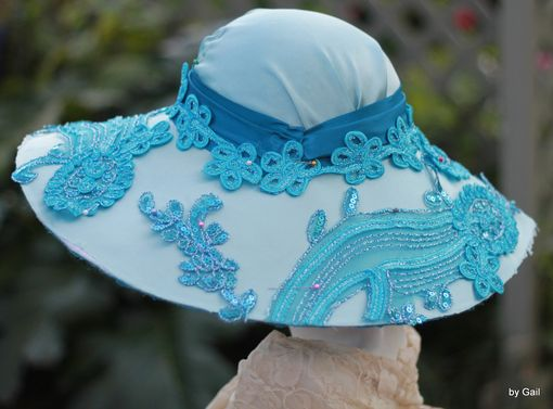 Custom Made Downton Abbey Style Wide Brim Church, Race, Wedding Hat