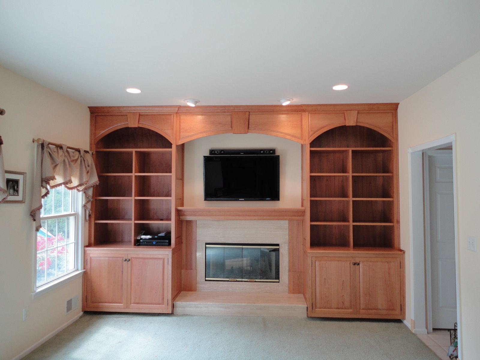 custom cherry wall unit by oak mountain custom woodwork