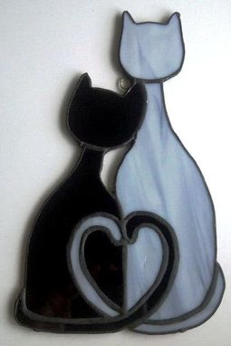 Custom Made Cozy Cats - Stained Glass Sun Catcher (G-6)