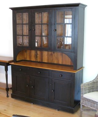 Custom Made Full Size Barn Wood Hutch