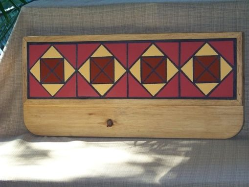 Custom Made Coat Rack - Set In Red And Gold