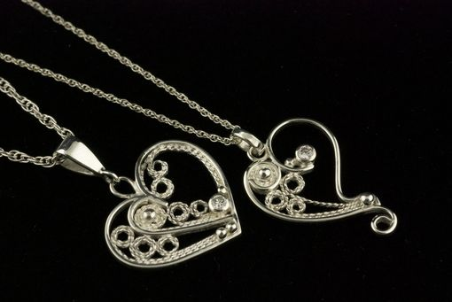 Custom Made Filigree Hearts