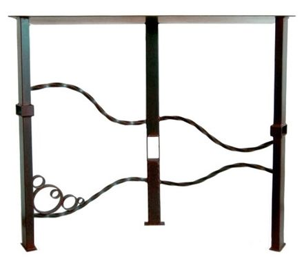 Custom Made Salvaged Steel Console Tables