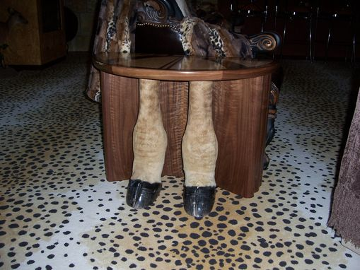 Hand Made Giraffe Leg Table By Cibolo Valley Furniture