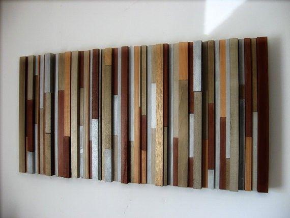 Custom Wood Wall Decor : Handmade wood wall sculpture by modern rustic art llc