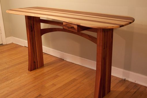 Custom Made Organic Shaped Computer Table