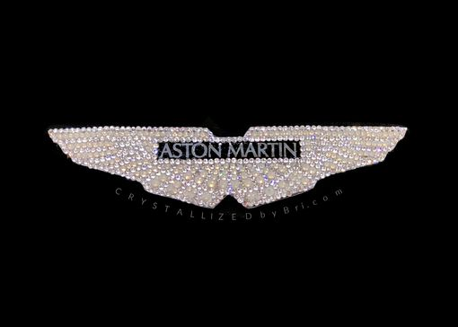 Custom Made Aston Martin Crystallized Car Emblem Bling Made With Swarovski Crystals Bedazzled