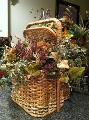 Custom Made Wicker Basket Floral Arrangements