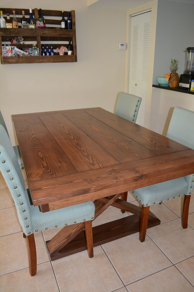 Hand Crafted Farm Style Dining Room Table Solid Wood By A