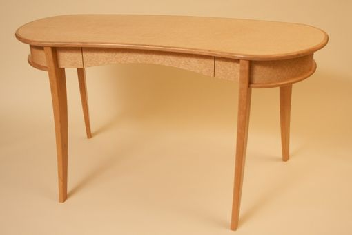 Custom Made Birdseye Maple And Cherry Desk