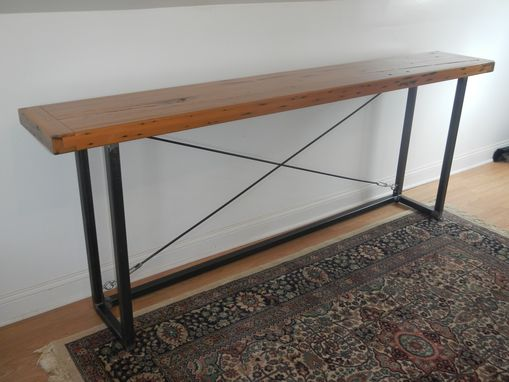 Custom Made Large Reclaimed Wood Console Table
