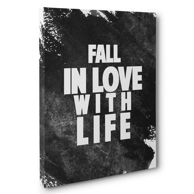 Custom Made Fall Inlove With Life Canvas Wall Art