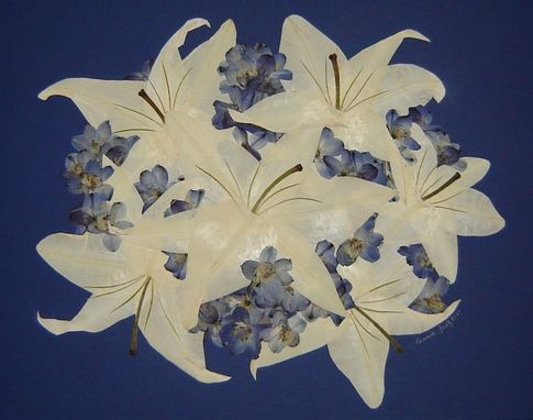 Custom Made Pressed Flower Art - Bridal Bouquet ~ Flowers Only