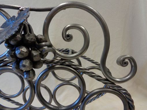 Custom Made 6 Bottle ( Twisted Rope Bar) Wine Rack
