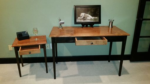 Custom Made Shaker Design Writing Desk With End Table