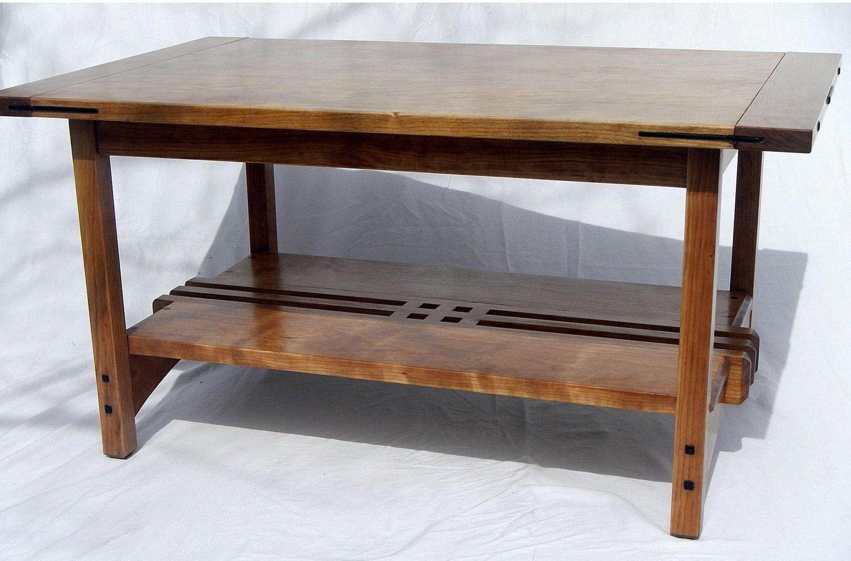 Handmade greene greene style coffee table by inside the for Greene and greene inspired furniture