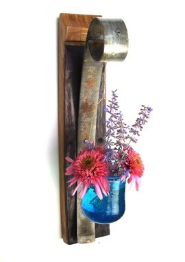 Custom Made Aerides Dozen - Wine Barrel Stave Candle Or Flower Holders