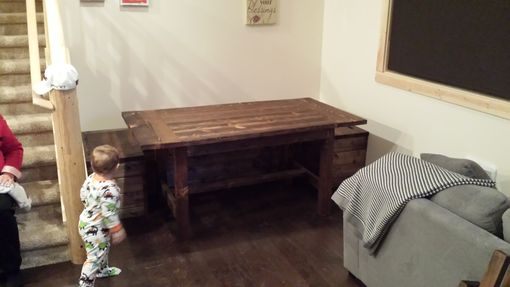 Custom Made Built In Benches With Dining Table