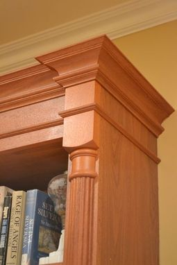Custom Made Custom Mahogany Bookcase