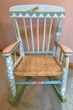 Custom Made Available Doodle Chair In Blue