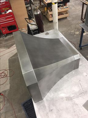 Custom Made #87  Custom Hand Crafted Zinc Range Hood With Medium Patina