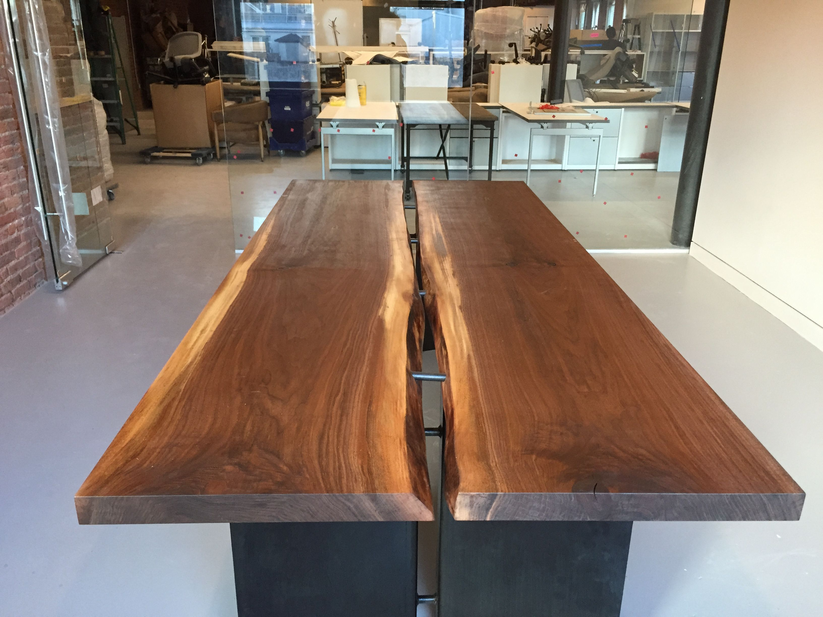 Glass conference table for sale - Live Edge Conference Table By Greg Pilotti