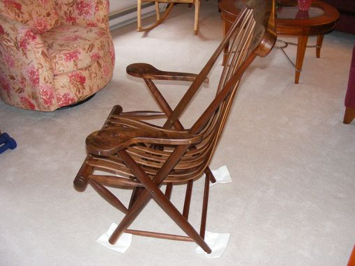 Custom Made Walnut Lounge Chair
