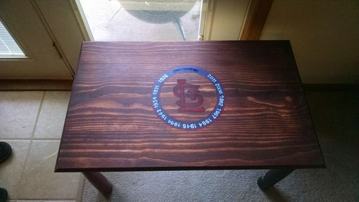 Custom Made Baseball Bat Coffee Table