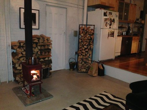 Custom Made Fireplace Log Rack