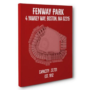 Custom Made Fenway Park Canvas Wall Art – Multiple Colors