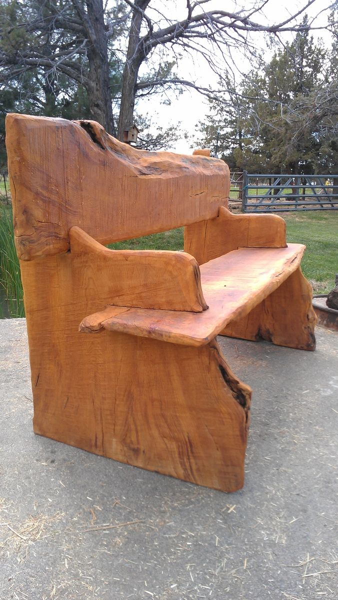 Hand Made Live Edge Bench By Juniper Canyon Design