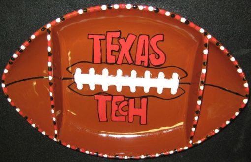 Custom Made Football Chip And Dip Platter