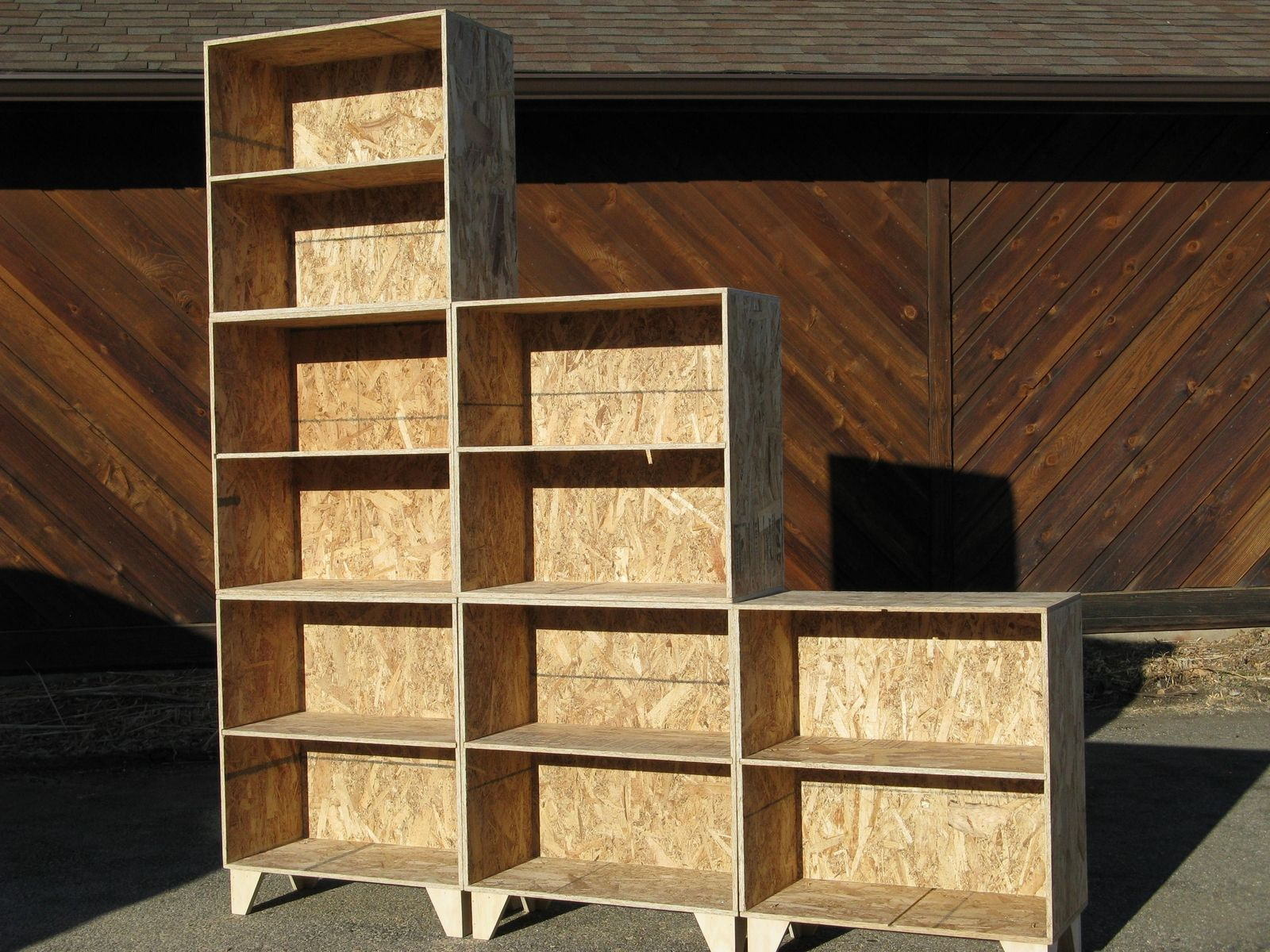 Hand Crafted Natural Osb Unfinished Modular Tansu Style