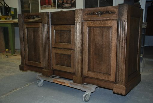 Hand Made Quarter Sawn Oak Vanity By Daniel Cabinets