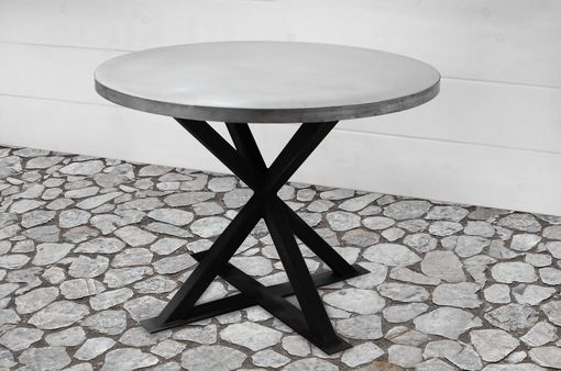 Custom Made Kensington Round Zinc Dining Table